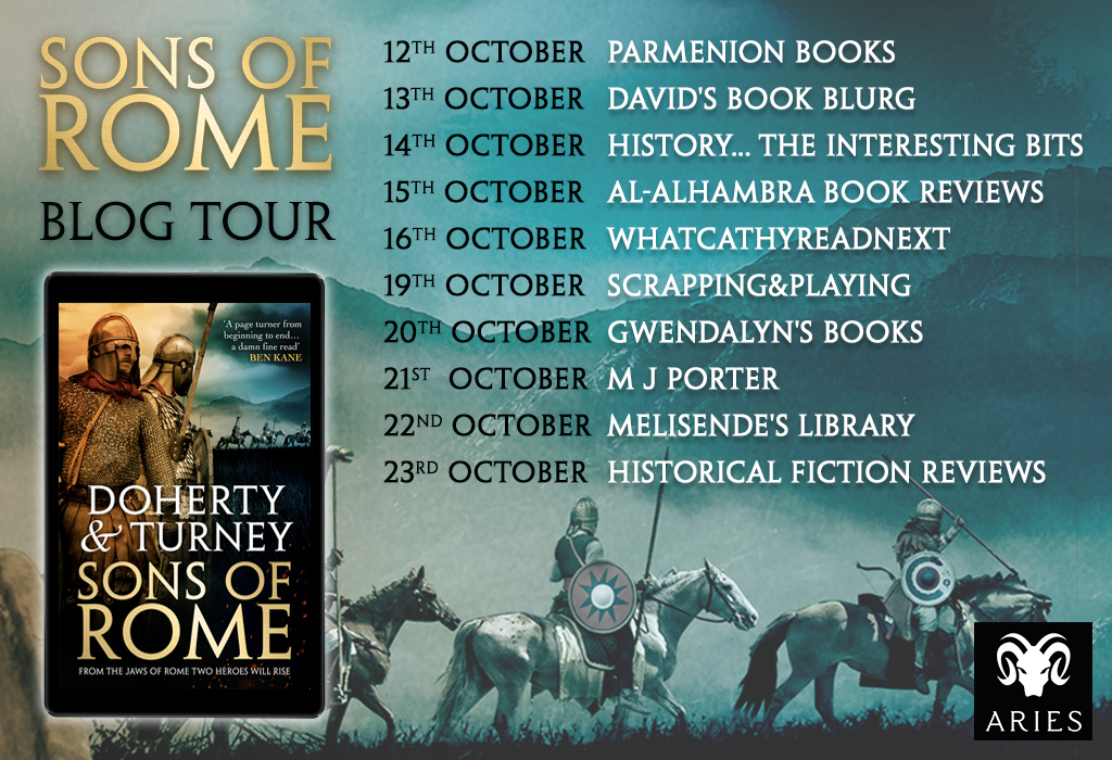 Welcome to today's stop on the Sons of Rome Blog Tour