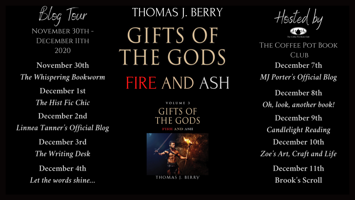 Welcome to today's stop on the 'Fire and Ash'  blog tour by Thomas J Berry