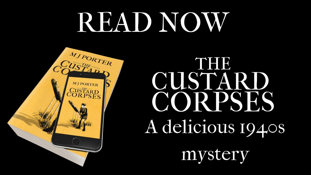 Happy Release Day to The Custard Corpses – a delicious 1940s mystery