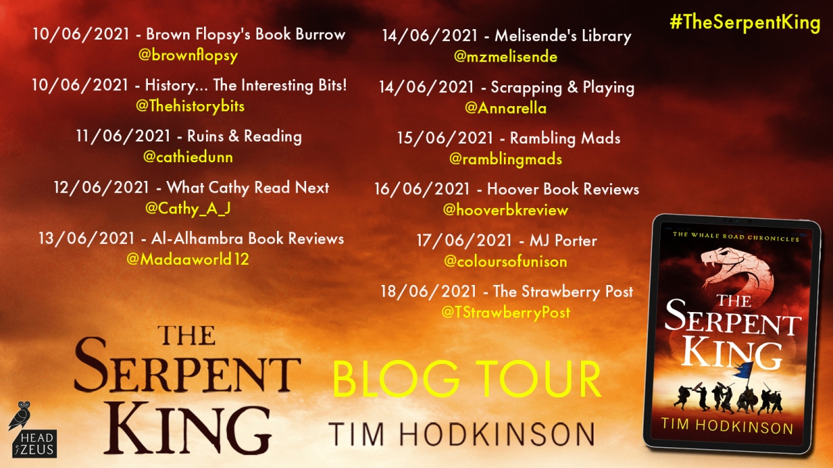 Welcome to today's stop on the new release blog tour for  The Serpent King by TimHodkinson